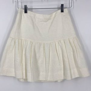 J.Crew cream colored skirt with built in lining.